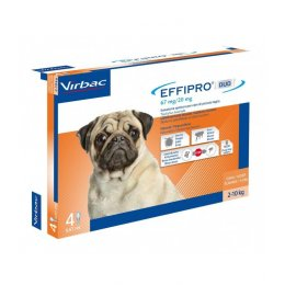 Effipro duo cane spot-on 67 mg 2-10 kg 4 pipette