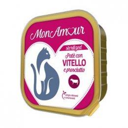 MONAMOUR Patè CAT STERILISED VITELLO E PROSCIUTTO 100 GR.