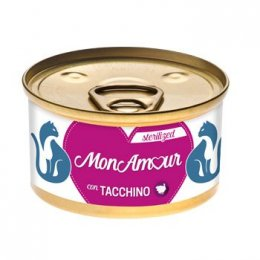 Monamour Cat Gold Mousse Sterilized Tacchino 85GR New